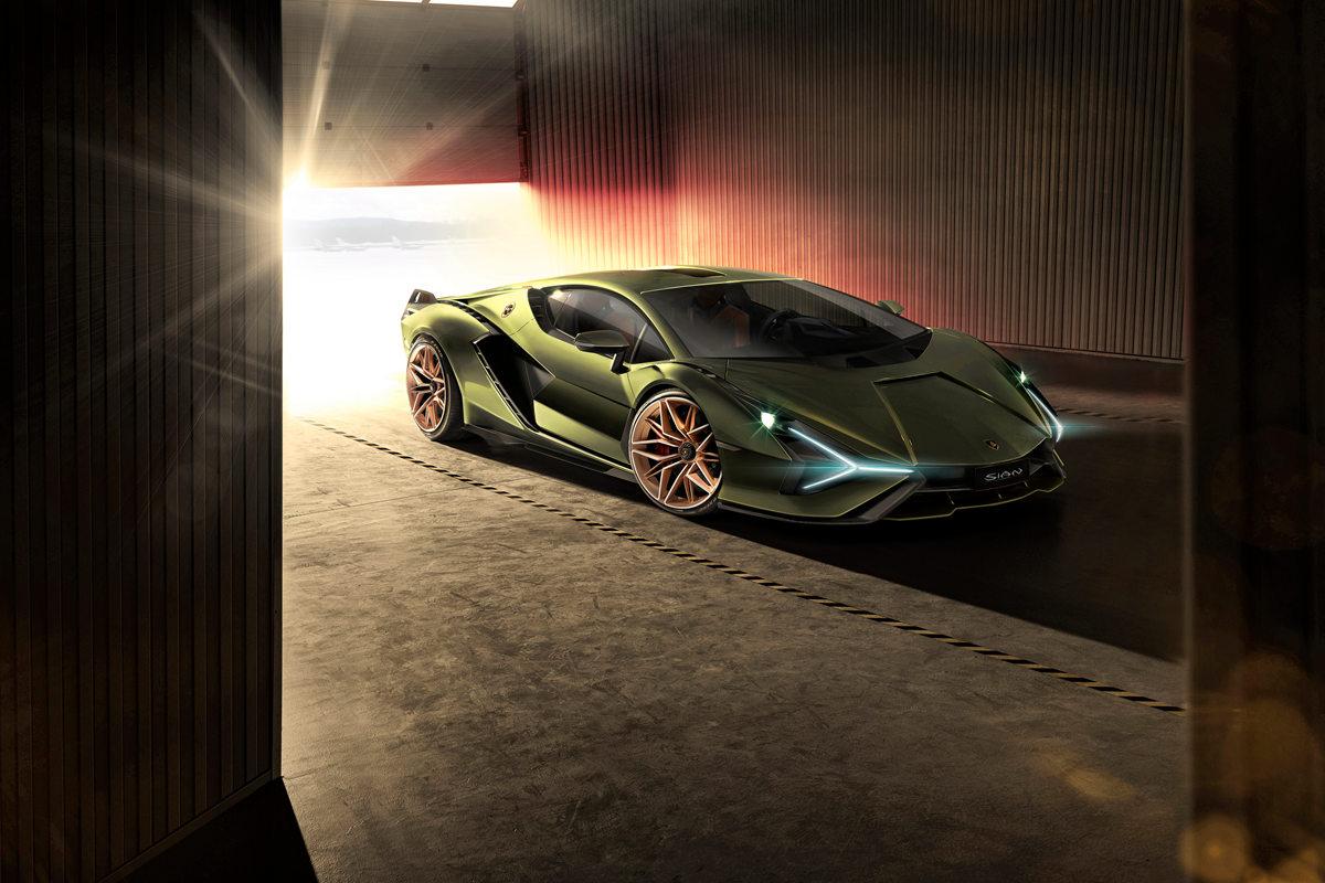兰博基尼Sián混合动力超级跑车将亮相法兰克福车展
